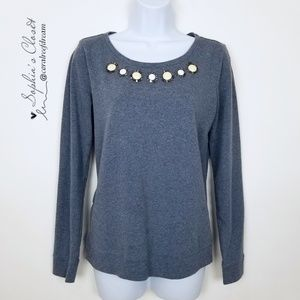 LOFT Tops - LOFT Bluish Gray Long Sleeve Top Shirt